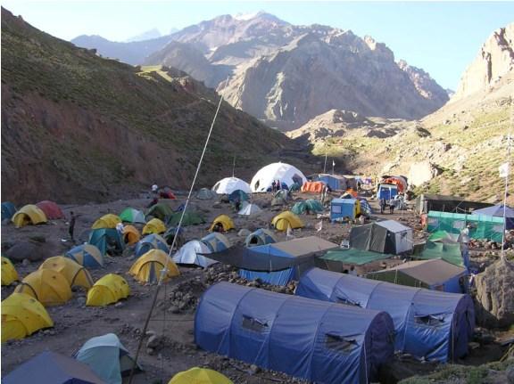 Базовый лагерь красноярских альпинистов