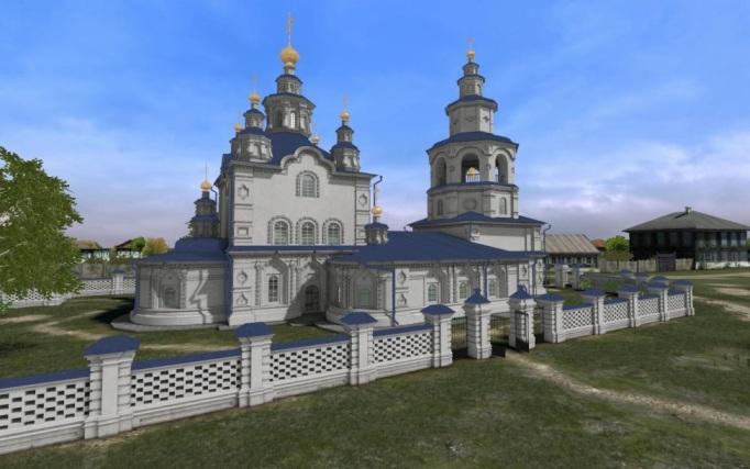 Троицкая церковь. Виртуальная реконструкция