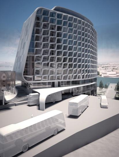 Проект гостиницы на Театральной площади Красноярска