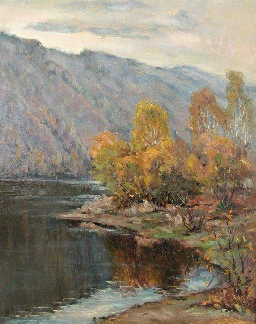 Тишина. Осень. Енисей 2006 г. Борис Туров
