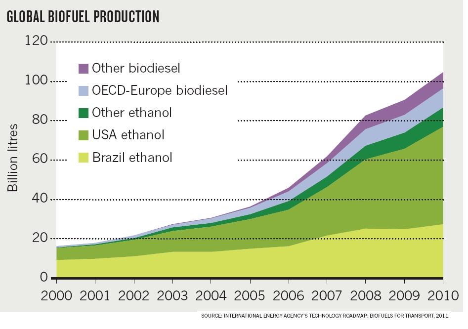 Биотопливо. Уверенный рост