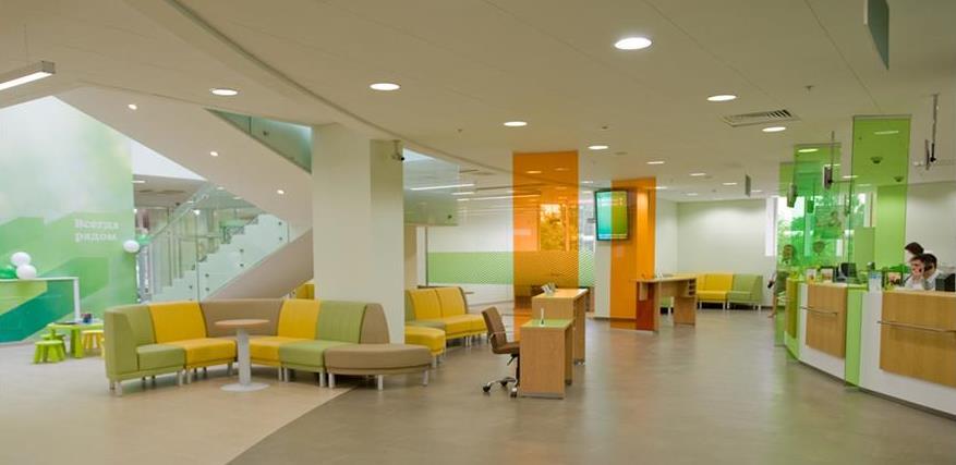 Офис нового формата «Сбербанка»