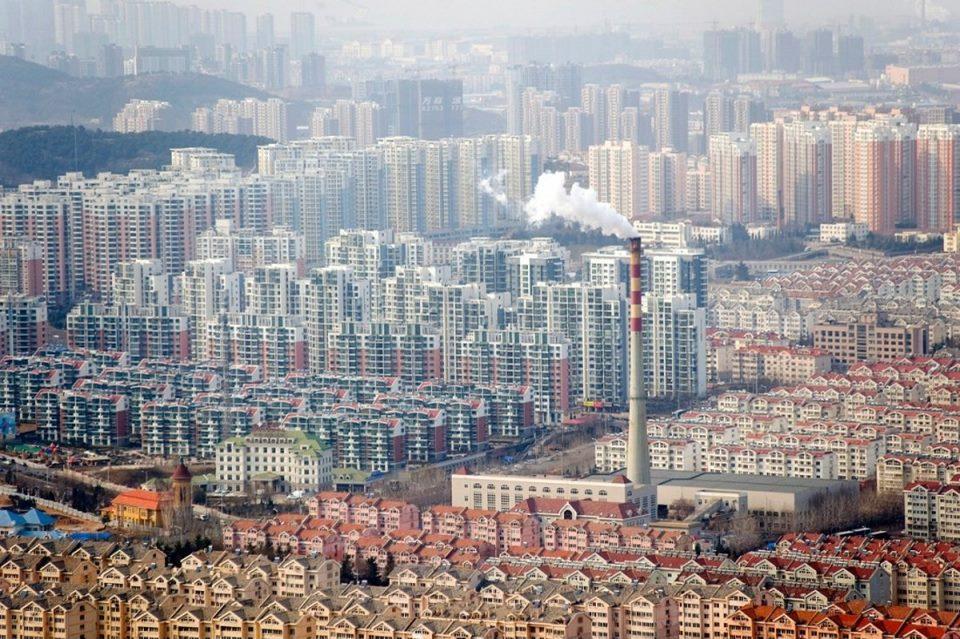 Районы высокоплотной жилой застройки. Китай, провинция Шаньдун