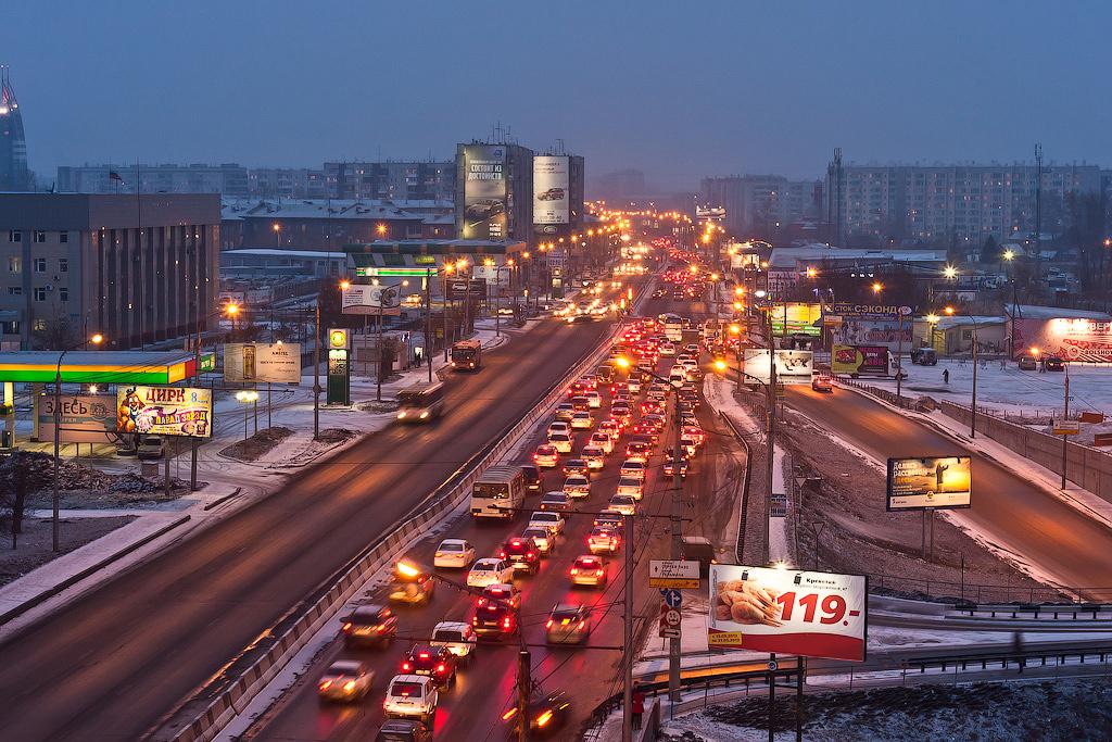 Красноярск. ул. Партизана Железняка. Фото: Сергей Филинин (feelek.livejournal.com)
