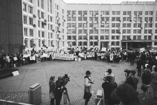 Пикет в поддержку Олега Леонтьева. Фото М. Маклакова