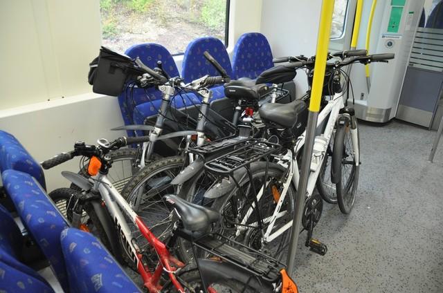 Места для провоза велосипедов в трамвае