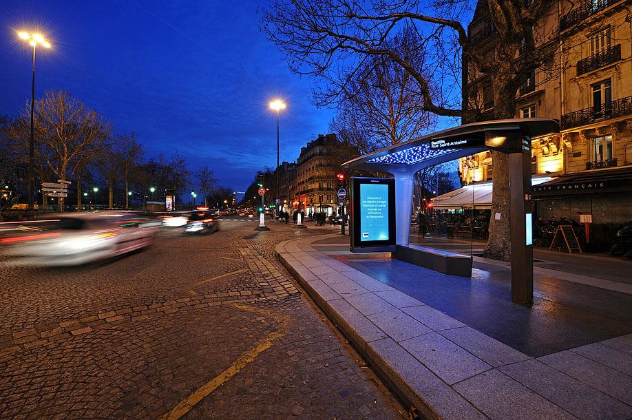 Остановка общественного транспорта в Париже