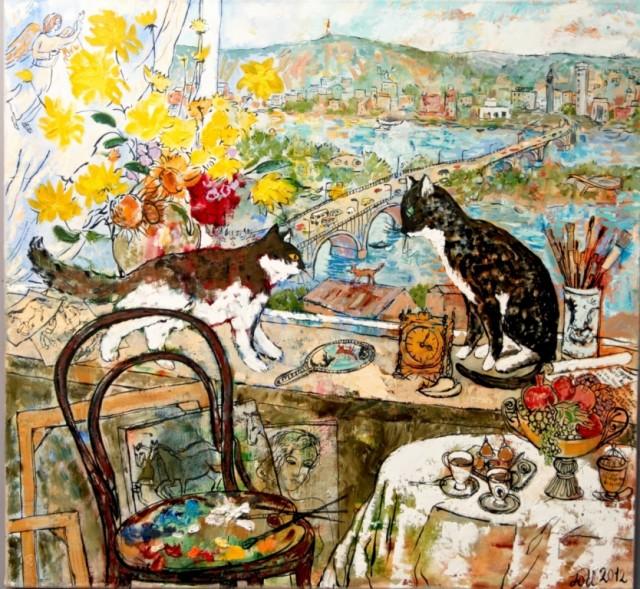 """Юлия Иванова """"Муся, Дуся и рыжий кот"""". 2012"""