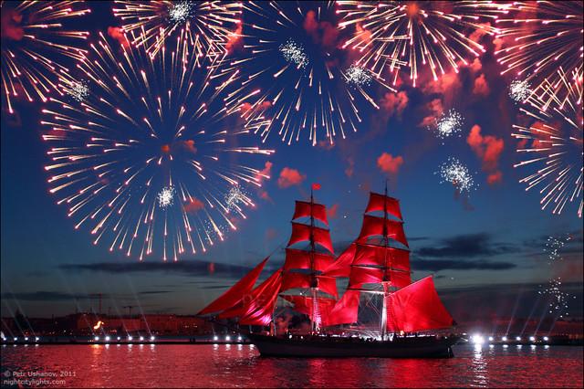 «Алые паруса» -фото Петра Ушанова http://petrushanov.livejournal.com/28308.html