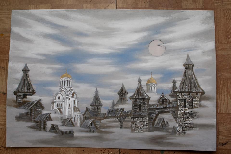 Эскиз декорации к опере «Князь Игорь»