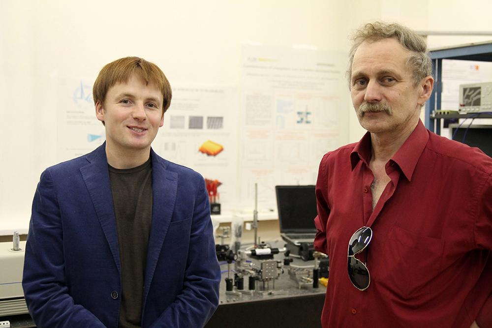 Андрей Вьюнышев (слева) и его руководитель Александр Александровский