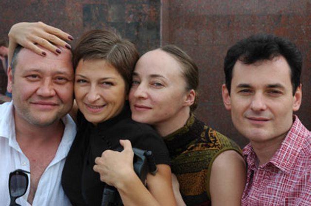 Галина Тюнина с Юрием Степановым, Ларисой Герасимчук и Андреем Воробьевым