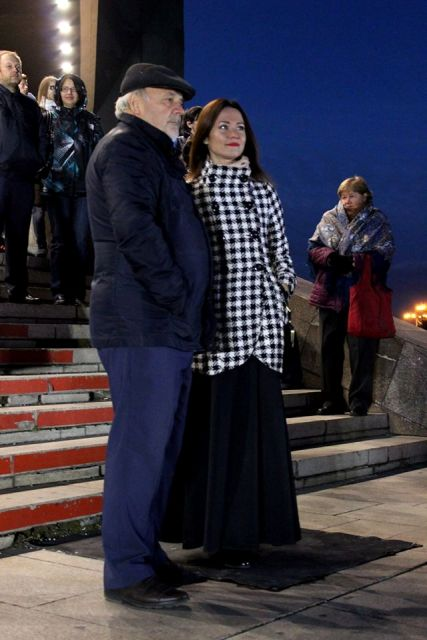 Михаил Шубский и Елена Мироненко. На открытии музейной биеннале